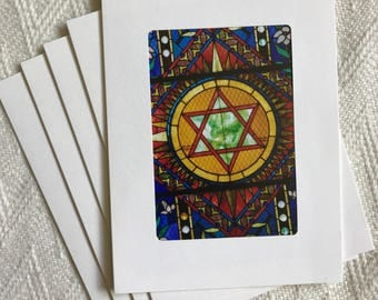5 Bar Mitzvah Bat Mitzvah Photo Note Cards, Blank Note Cards with Envelopes, Set of 5 Cards, Stationary, Blank Greeting Cards, Gift Under 15