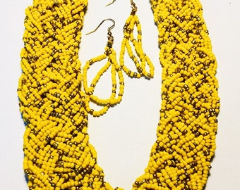 Sophie - Braided necklaces with earrings