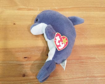 Ty Beanie Babies Waves The Bottlenose Dolphin