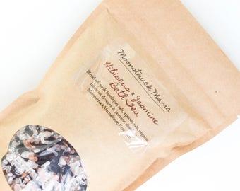 Bath Salts, Hibiscus, Jasmine, Herbal Bath, Bath Soak, Floral Bath, Mineral Bath, Pink Himalayan Salt, Epsom Salt Bath