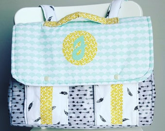 ON order only satchel kindergarten/cp straps(suspenders), printed Indian and pastel colors