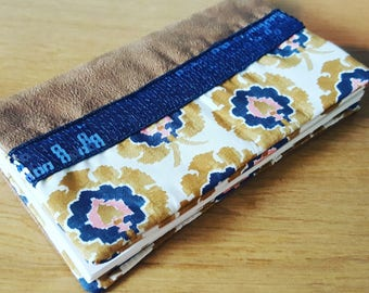 Checkbook suede and liberty bosphorus sequins Blue Navy