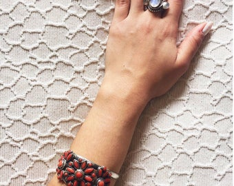 Moroccan Bracelet, Moroccan Jewelry, 925 Sterling Silver, Boho Silver Cuff, Gypsy Bracelet, Coachella Vibes - Free US Shipping