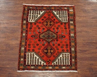3X4 Antique Persian Sarab Karajeh Hand-Knotted Wool Area Rug Carpet (3.1 x 4.5)