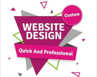 Website Design, Custom Website Design, Wordpress Website, Blog Website, Professional Website, Creative Website, Full setup