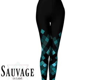 Black'n'Blue  Leggings for the wild ones • yoga class and sunday brunch approved • handmade in Montreal - XS to XL