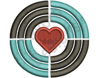 Circled Heart - Machine Embroidery Design