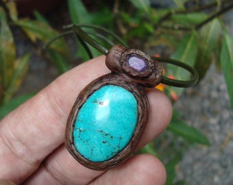 turquoise pendant turquoise necklace turquoise jewelry