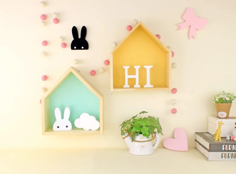 House shelf, nursery wall shelf, toy storage, house bookcase shelf ...