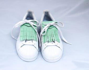 Green Croc of water for basketball leather fringe