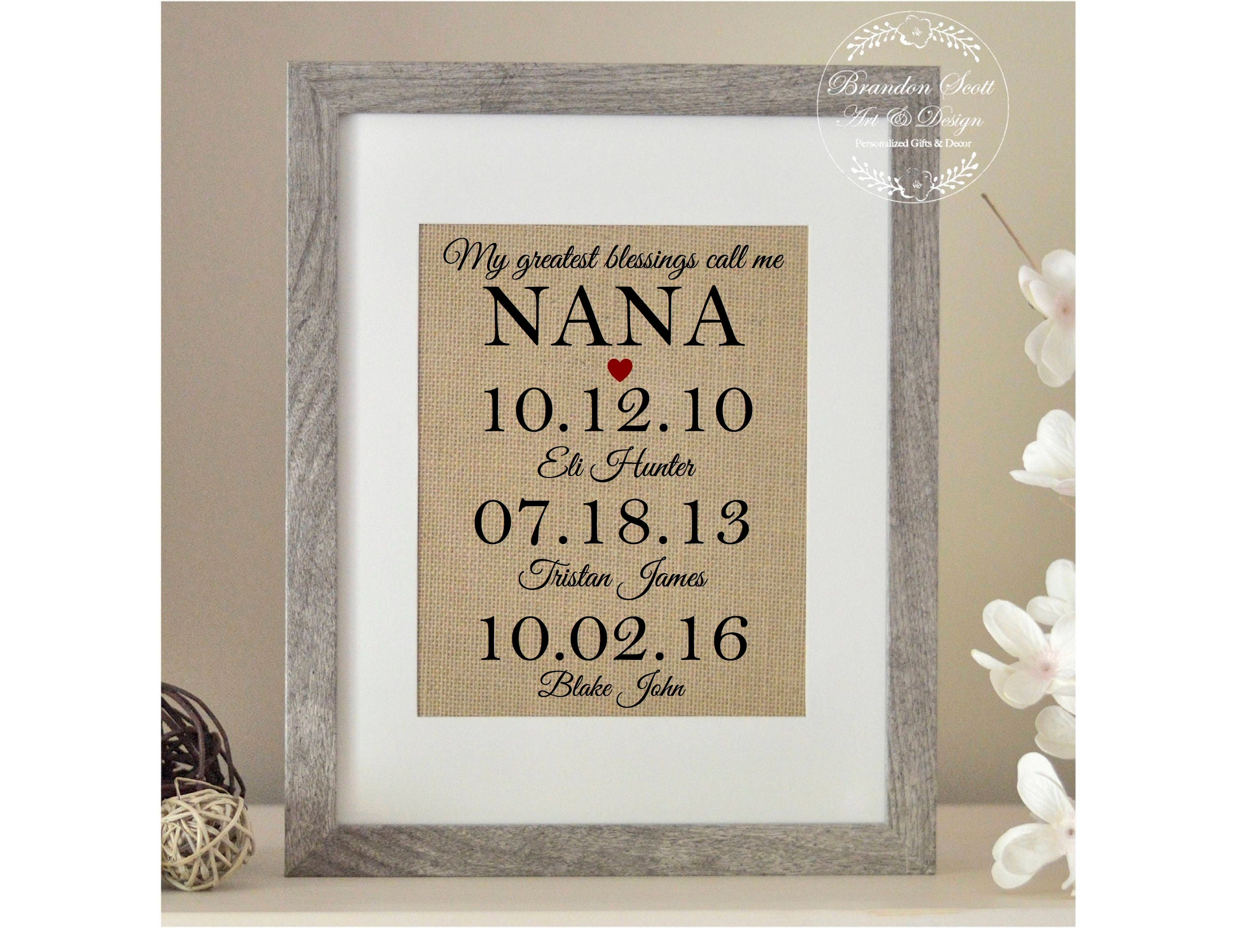 Personalized Nana Gift, Christmas Gift for Nana, My Greatest ...