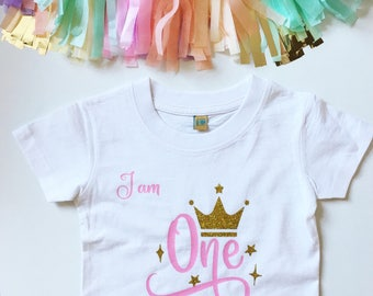 First birthday tshirt, i am one tshirt, birthday top, birthday shirt, birthday tshirt, first birthday, birthday clothes, birthday outfit