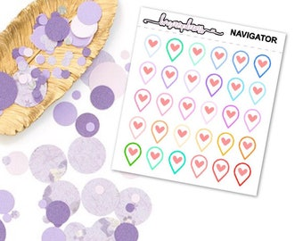 Navigatior - Planner Functional Stickers Erin Condren Happy Planner