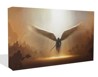 Fantasy Angel Warrior Canvas Print or Photo Print Wall Art Ready To Hang