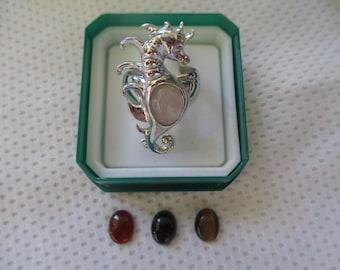 anello cavalluccio marino argento 925- sterling silver 925 ring (seahorse)