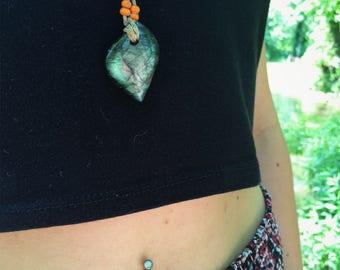 Labradorite Hemp wick Necklace