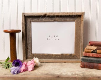 Authentic Farm House with Barn Wood Frame and Vintage Books Styled Mock Up