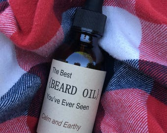 "The Best {BEARD OIL} You've Ever Seen - ""Calm and Earthy"""
