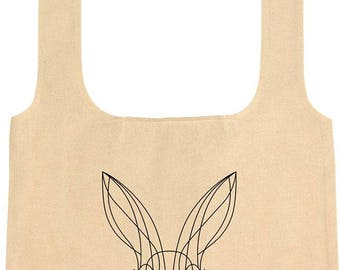 Hare Fold Up Cotton Shopping Bag