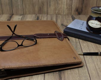 Leather Binder 3-Ring, Leather Binder, Leather Binder Cover, Leather Notebook Cover, Leather Folder, 3-Ring Portfolio. Chesterton Binder
