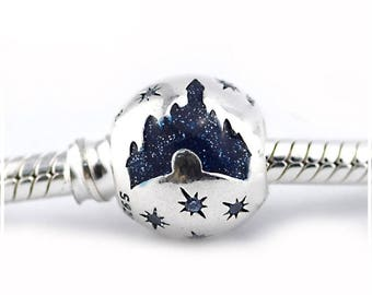 Disneyland 60 Mickey Mouse inspired Charm 925 Silver New for Pandora bracelet.