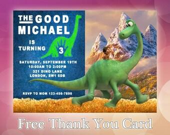 The Good Dinosaur / The Good Dinosaur Invitation / The Good Dinosaur Birthday / The Good Dinosaur invite / Pool Party Invite / GD01