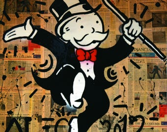 ALEC MONOPOLY 2012 - Reprod On Paper Archival210m OR Canvas hdprint, Museum Gallery Stretched