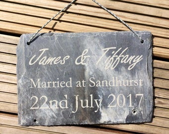 Wedding Engagement Occassion Date Plaques - Wedding Gift - Wedding Present - Personalised Gift - Personalised Wedding Gift
