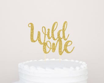 Wild One Cake Topper Smash Cake Topper Glitter Cake Topper Wild One Birthday Decorations Tribal Birthday Cake Topper Wild One Party