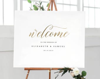 Wedding welcome sign etsy welcome to our wedding sign template printable welcome sign wedding welcome sign welcome junglespirit Choice Image