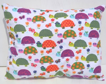 """Turtles I Love Gradma LadyBug Dogs Poodles Frogs Toddler Travel Cuddle Throw Bed Flannel Pillows You Pick 10""""x13"""""""