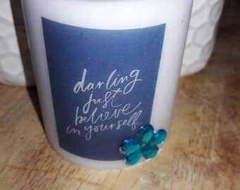 Custom made darling candle