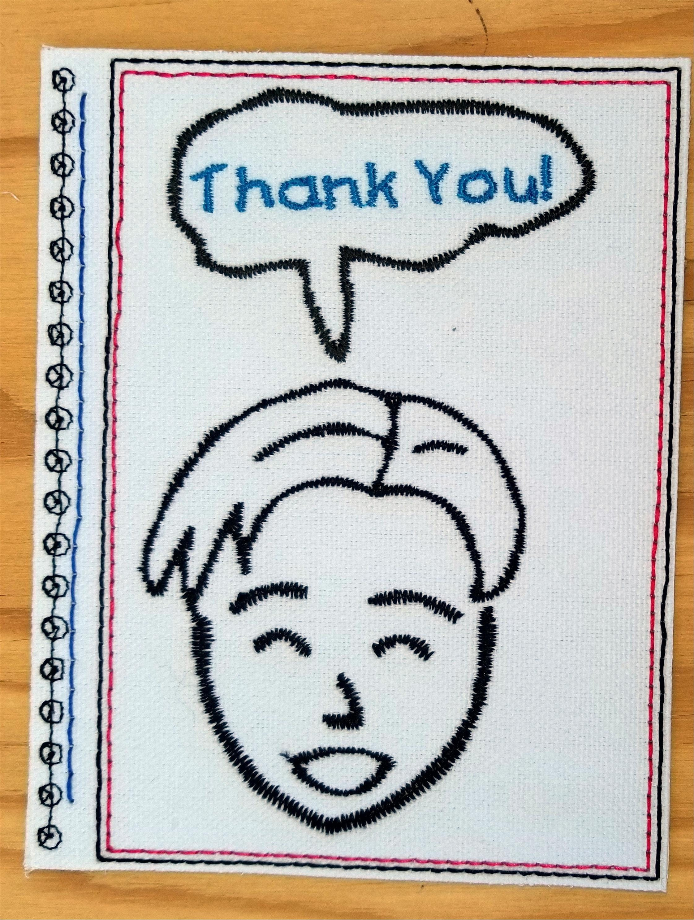 Embroidery greeting cards by dielobi thank you card 7b from this is a digital file kristyandbryce Image collections