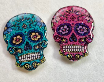 Sugar Skull Xray Markers Blue and Pink Customized with Initials