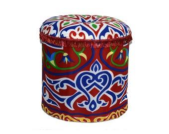 Round Traditional Pouf Ottoman