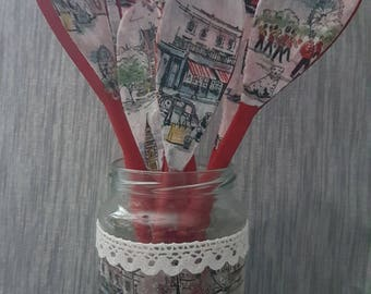 Cath Kidston - Billie Goes To Town - London Collection - Decoupage Wooden Spoons with matching Jar