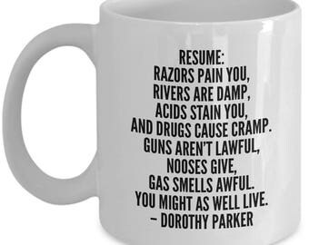 time doth flit oh shit dorothy parker funny novelty coffee
