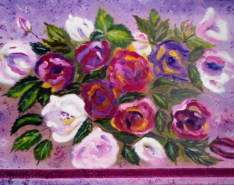 Fragrance of roses 60*40cm. ready to hang gift idea