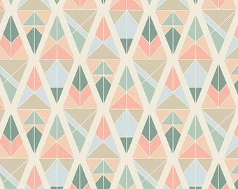 Art Gallery Fabrics -Garden Dreamer- Diamond Fragments Rose- 100% Cotton-AGF- Quilting Cotton
