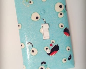 Monster Switch Plate - Light Switch Plate - Nursery Switch Plate - Boys Room Switch Plate - Kids Room - Boys Room - Wall Decor - Home Decor