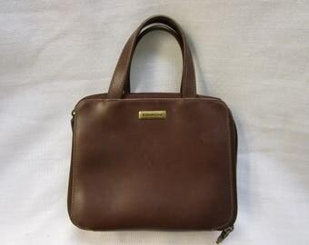 Evan Picone Leather Handbag Vintage Leather Handbag Leather Purse Double Zipper Leather Handbag Vintage Evan Picone Purse Vintage Handbag