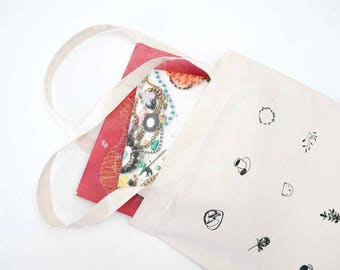 Canvas Tote Bag/ Market Bag/ Tote Bag/ Fabric Bag  / Canvas Bag / Drawing Bag- FAVOURITE THINGS