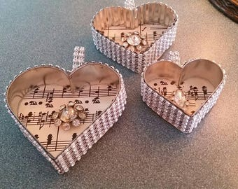Cookie Cutter Heart Ornaments