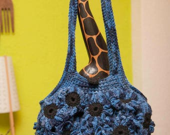 Handbag, handmade with flowers