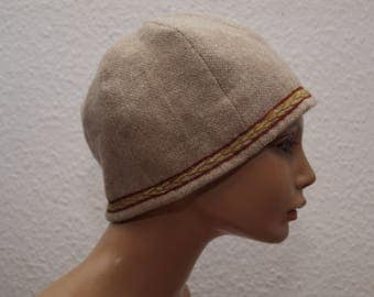 CAP, middle age, Viking, Rus, embroidered, Burr, Gr. 60, wool, linen