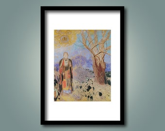 "The Buddha - by Odilon Redon - Reproduction Print - ""FREE SHIPPING to UK Customers"""