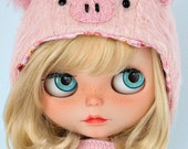 Blythe and Middie doll eye chips resin eyes glass ecyechips crystal realistic in light blue OOAK doll custom customize - Nº3