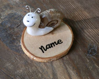 Deco snail personalized with name or inscription