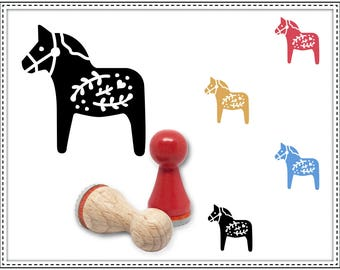 Rubber stamp DALA HORSE Ø 15 mm