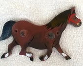 Horse Horse Coat Hanger Coat Peg Kids Coat Peg Kids Coat Hanger Kids Bedroom Hand Painted Hand Painted Coat Peg Horse Bay Horse